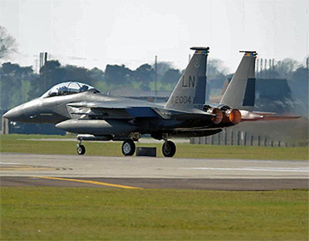 An American F-15 fighter jet similar to the one that crashed in Libya. Photo: PA