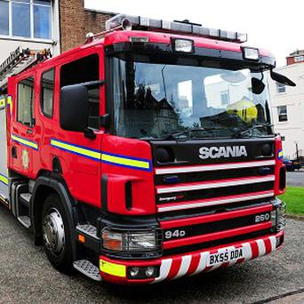A firefighter has described how he saved a dog's life by giving it mouth-to-mouth resuscitation