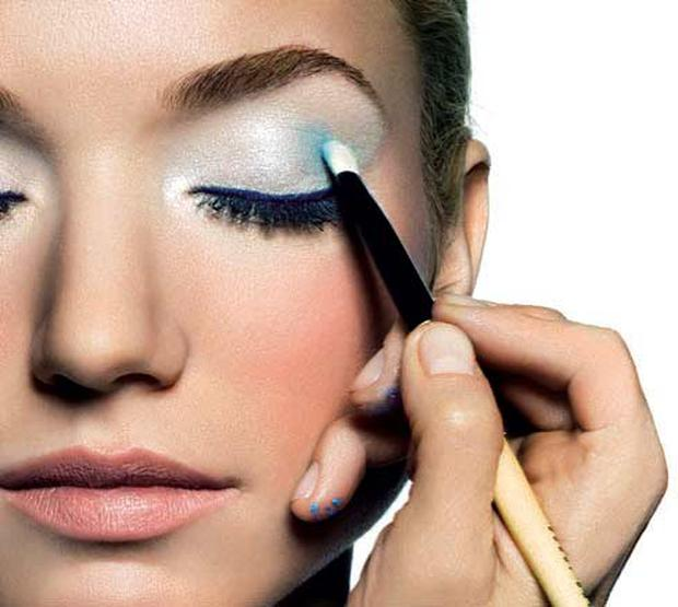 Build gradually and blend well for the pastel look. Photo courtesy of Bobbi Brown