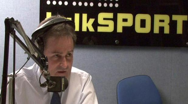 Richard Keys being interviewd on TalkSport radio about the infamous Sky Sports sexism row. Richard Keys and Andy Gray now host a show on TalkSport. Photo: PA