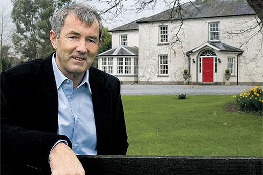 Michael Lowry outside his Tipperary home, on which Dunnes Stores lavished almost IR£500,000 for renovations