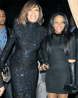 Mummys' girls: Whitney Houston's daughter Bobbi has been accused of allegedly snorting cocaine