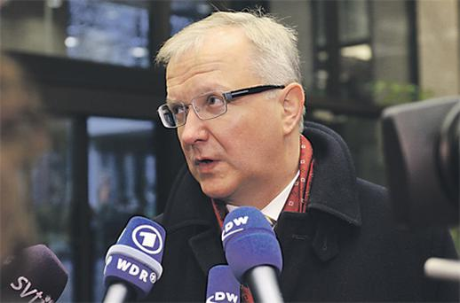 Olli Rehn, the European Union's economic and monetary affairs commissioner, appears to strongly rule out any unilateral default by countries in receipt of EU assistance