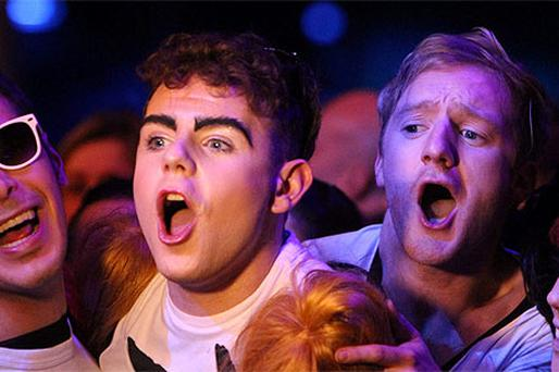 Fans at Kylie Minogue's gig. Photo Brian McEvoy