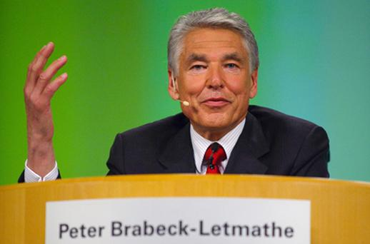 Peter Brabeck-Letmathe, the chairman of Nestlé. Photo: Getty Images