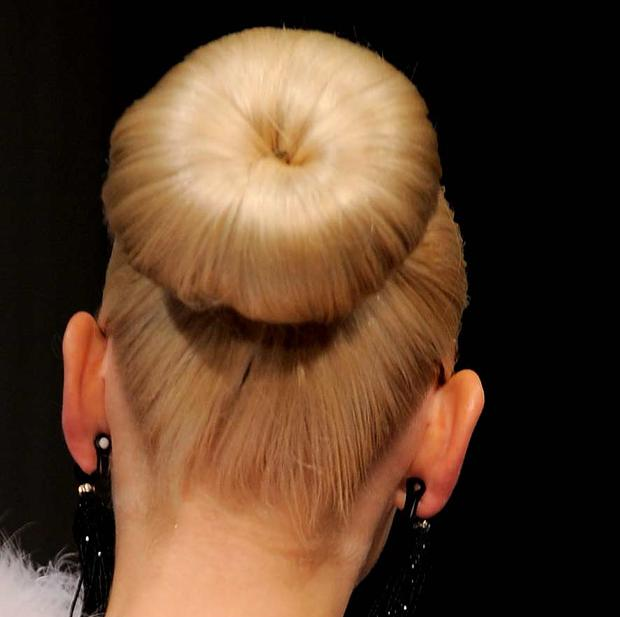 The bun on the catwalk at the Oscar De La Renta ss11 collection. Photo: Getty Images