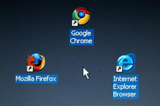 All versions combined, Internet Explorer still leads the global market with 45pc followed by Firefox with 30pc and Chrome with 17pc. Photo: Getty Images