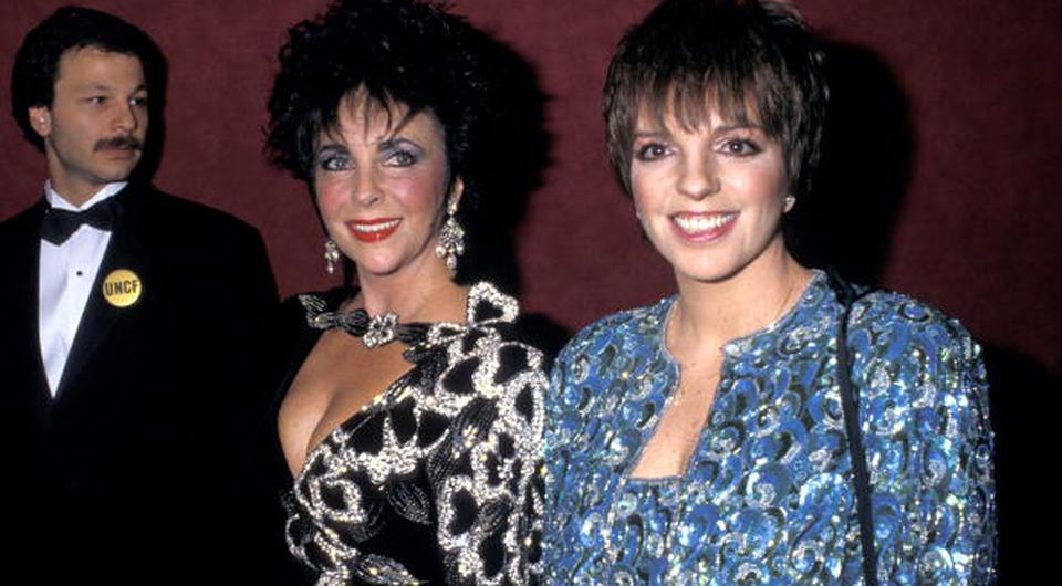 Elizabeth Taylor and Liza Minnelli (Photo by Ron Galella/WireImage)