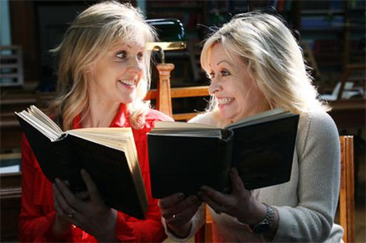 Sinead Moriarty (left) and Cathy Kelly