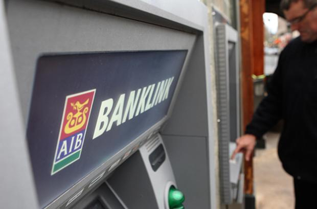 Allied Irish Banks was down 7.04pc at 19c. Photo: Getty Images