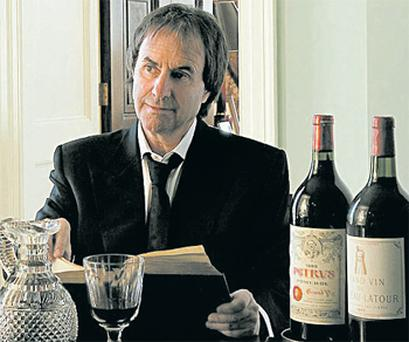 Chris de Burgh with some of his expensive wines