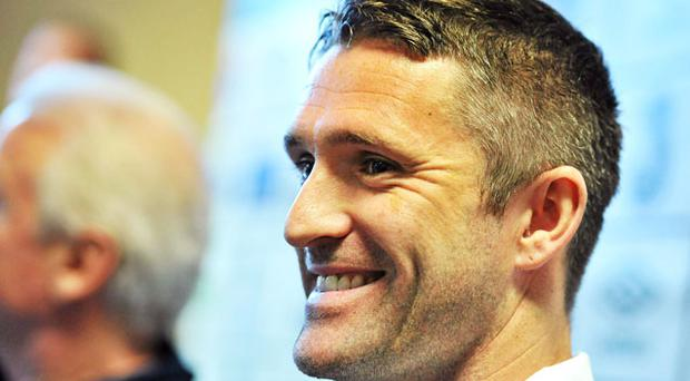 Republic of Ireland captain Robbie Keane during a press conference ahead of their EURO2012 Championship Qualifier match against Macedonia. Photo: Sportsfile
