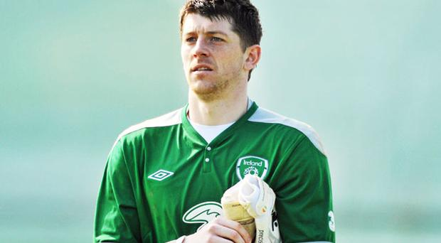 Keiren Westwood will be hoping to put the advice he has received from Shay Given into practice tonight. Photo: Sportsfile