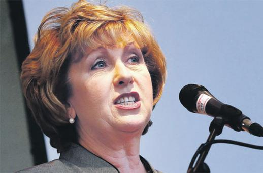 Stately: President Mary McAleese speaking at the IDA annual conference.