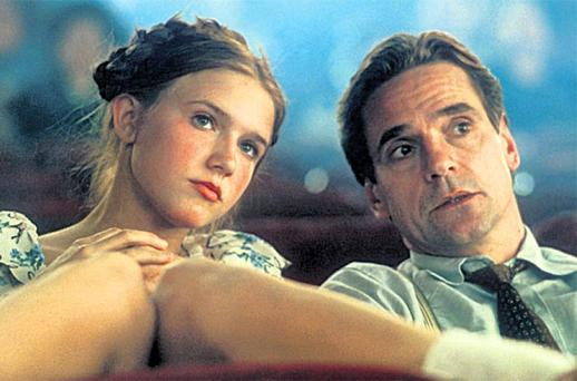 Parallel: Dominique Swain and Jeremy Irons in a film adaptation ofLolita, to whichTiger, Tiger has been compared