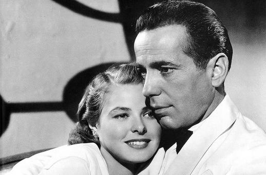 IN SAFE HANDS: Ingrid Bergman with Humphrey Bogart in a scene from critically lauded film 'Casablanca' (1942)
