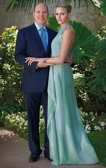 Prince Albert and his fiancee Charlene Wittstock