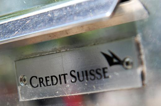 Credit Suisse is the latest international lender to disclose its exposures to Ireland. Photo: Getty Images
