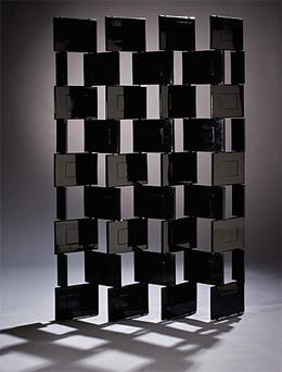 A rare black lacquered screen panel, also by Ms Gray, was one of the first pieces under the hammer last night and went for €1.3m