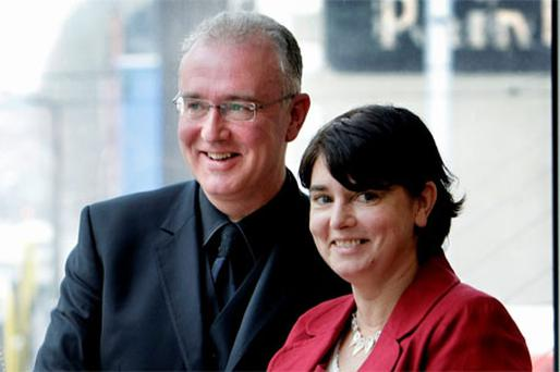 Singer SInead O'Connor with her Brother and Author Joe O'Connor
