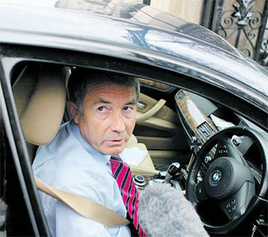 Disgraced TD Michael Lowry arrives at Leinster House yesterday