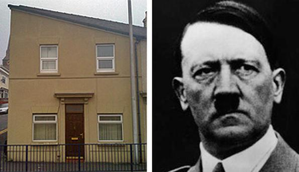 The house in Port Tenant, Swansea, that looks like Hitler. Photo: PA and Getty Images
