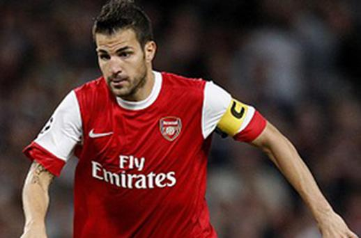 Return: Arsenal captain Cesc Fabregas. Photo: PA