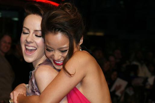 Jena Malone and Jamie Chung attend the premiere of Sucker Punch. Photo: Getty Images