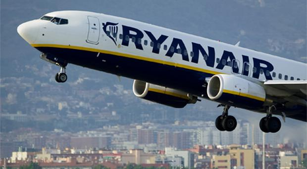 Traders approved of Ryanair's decision to put a €2 surcharge on its passengers to cover the cost of cancellation and delays. By the close, the no-frills airline had gained 1.17pc to reach €3.36. Photo: Getty Images
