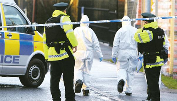 PSNI forensic experts at the scene