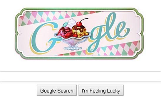Google's latest doodle celebrates the Ice cream Sundae