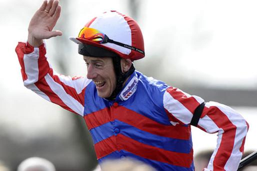 Johnny Murtagh celebrates his Lincoln win on Saturday. Photo: Getty Images