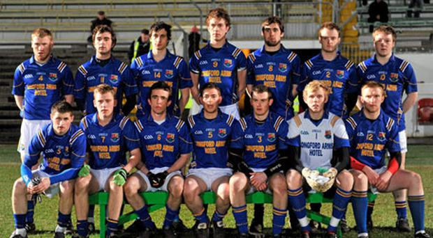 The Longford team, pictured here before their quarter-final against Meath, will be bidding to win the Cadbury Leinster U-21 football title for the first time tomorrow.