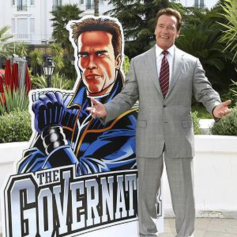 Arnold Schwarzenegger launches his new animated TV series The Governator in Cannes (AP)