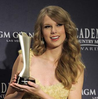 Taylor Swift at the 46th Annual Academy of Country Music Awards in Las Vegas