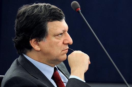 European Commission President Jose Manuel Barroso delivers a speech during a debate at the European Parliament in Strasbourg yesterday