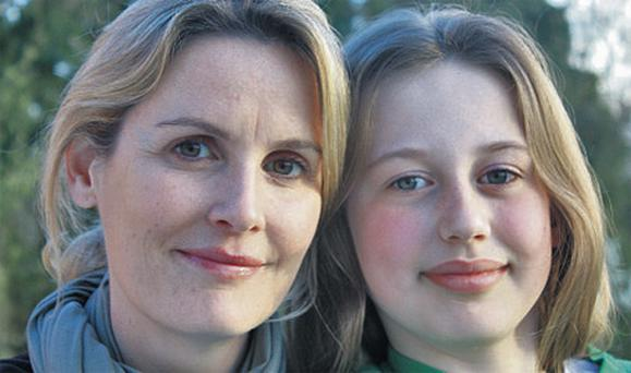 Ear to the Ground presenter Helen Carroll and her nine-year-old daughter, Katie, who goes to a small rural school