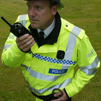 Police radios have been stolen during a break-in in South Lanarkshire