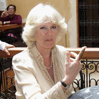 The Duchess of Cornwall got a henna tattoo while visiting Morocco