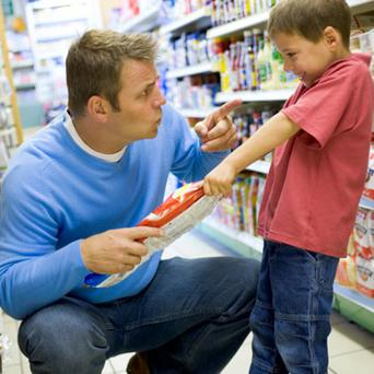 'When your child throws a strop in the supermarket you may appear to be a nasty child harmer to on-lookers. Anyone who tut-tuts is most likely not a parent. The sympathetic glances will come from someone who's been there'. Photo: Thinkstockphotos.com