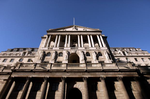 Three members of the nine-strong monetary policy committee voted to increase rates last month but the majority of policymakers expect inflation to peak at 5pc before heading back to its 2pc target next year. Photo: Getty Images