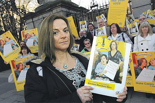 Alison McKim with carers' manifesto