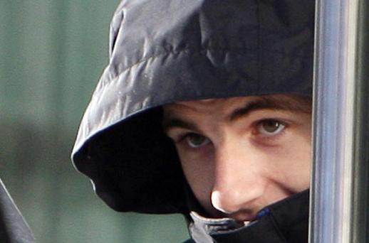 Conor Duffy at the Central Criminal Court, Dublin. He was jailed for the manslaughter of Aidan O'Kane. Photo: Courtpix