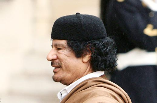 Gaddafi: NATO thought only his forces had tanks. Photo: Reuters