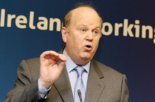 Finance Minister Michael Noonan is at the ecofin meeting where he will repeat the Irish stance of no change in Ireland's corporation tax position. Photo: Tom Burke