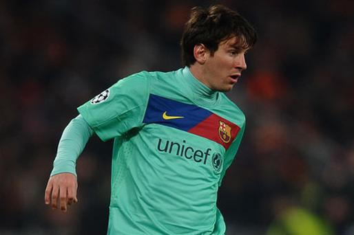 Lionel Messi scored Barcelona's only goal againt Shakhtar. Photo: Getty Images