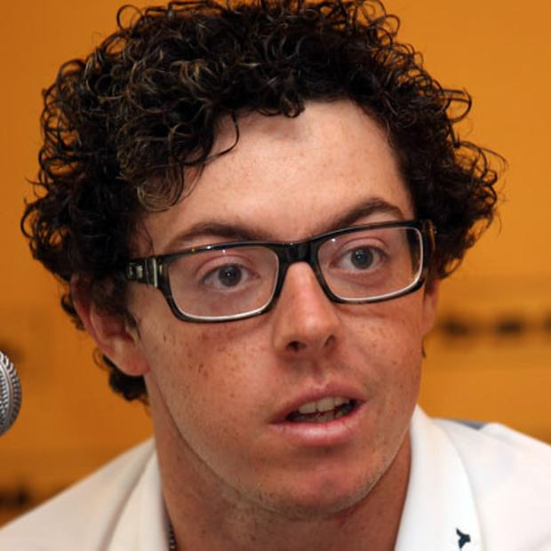 Rory McIlroy answers questions at a press conference in Kuala Lumur yesterday ahead of this week's Malaysian Open. Photo: Getty Images