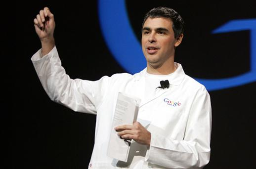 Back at the helm: Google co-founder Larry Page. Photo: Getty Images