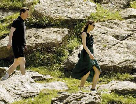 Sartorially challenged: David Cameron committed numerous style crimes on holiday with wife Samantha