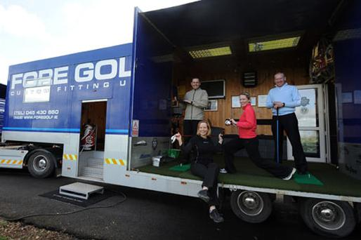 The team that devised the golf fitness programme; Front: Morgan Pierce, back (l-r) Derek Murray, Fore golf, golf pro John Kelly and fitness instructor Michelle Butler.